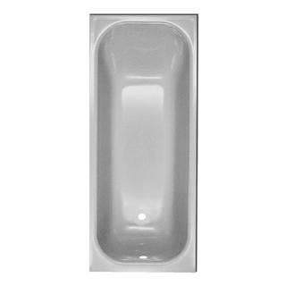 Badewanne Schmidlin Norm 160 x 70 cm, Ablauf links Zargen vorne und rechts, Stahl