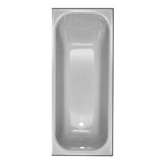 Badewanne Schmidlin Norm 160 x 70 cm, Ablauf links Zargen vorne, rechts und links, Stahl