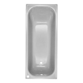 Badewanne Schmidlin-Norm 160 x 70 cm, Ablauf und Loch links. Loch für Mischer hinten
