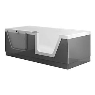 Badewanne DuscholuxStep- in PURE, 180 x 80 x 45 cm Rückenteil rechts Acryl