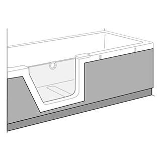 sch rze duscholux panelle front zu badewanne step in pure. Black Bedroom Furniture Sets. Home Design Ideas