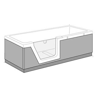 Schürze Duscholux PanElle Front und Rückenteil zu BW Step-inPURE 1124 247
