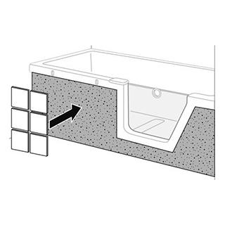 Fliesenträger Duscholux Front, zu Badewanne Step-in PURE 1124 242