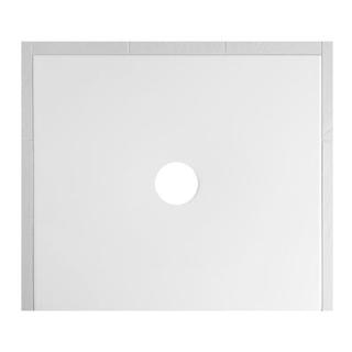 Duschenwanne Schmidlin Floor 90 x 80 x 2,5 cm Ablaufloch D. 90 mm Stahl