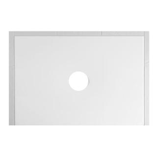 Duschenwanne Schmidlin Floor 100 x 75 x 2,5 cm Ablaufloch D. 90 mm Stahl