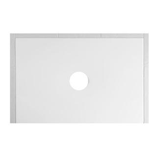 Duschenwanne Schmidlin Floor 120 x 80 x 2,5 cm Ablaufloch D. 90 mm Stahl