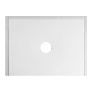 Duschenwanne Schmidlin Floor 120 x 90 x 2,5 cm Ablaufloch D. 90 mm Stahl