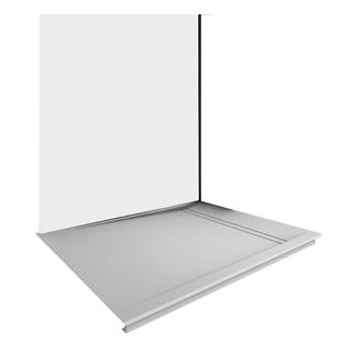 Duschwanne Duscholux FJORD AIR Fräsung links, 100 x 100 cm Tiefe 2 cm