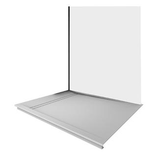 Duschwanne Duscholux FJORD AIR Fräsung rechts, 100 x 90 cm Tiefe 2 cm