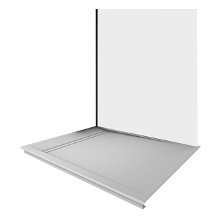 Duschwanne Duscholux FJORD AIR Fräsung rechts, 100 x 100 cm Tiefe 2 cm