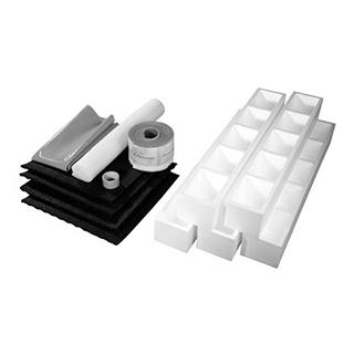 Schallschutzset Poresta BEDS Schallentkopplungsmatte 17 mm für bodenebene Duschsysteme