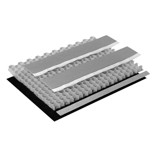 Schallschutzset Poresta BEDS-Wabenkern 0,5 m2