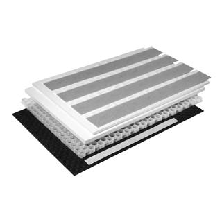 Schallschutzset Poresta BEDS-Wabenkern 1 m2 UBE 1200 x 800 x 20/30 mm