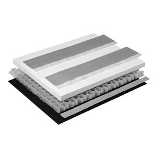 Schallschutzset Poresta BEDS-Wabenkern 0,5 m2 Unterbauelement 600 x 800 x 40 mm
