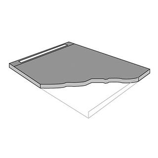 Duschelement Wedi Riolita/Muro bodeneben, Modul 800 140 x 100 cm Rostmass 80 cm
