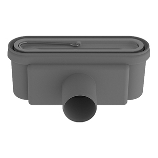 Duschenablauf Thumag Unidrain zu Duschrinnen, Höhe 8,6 cm Abgang D.50 mm waagrecht