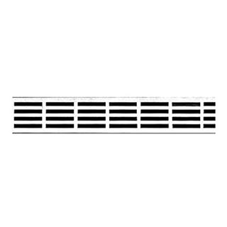Rost Unidrain Classic Line Stripe, Länge 80 cm Edelstahl (nur mit Rahmen verwendbar)
