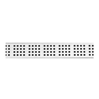 Rost Unidrain Classic Line Square, Länge 80 cm Edelstahl (nur mit Rahmen verwendbar)