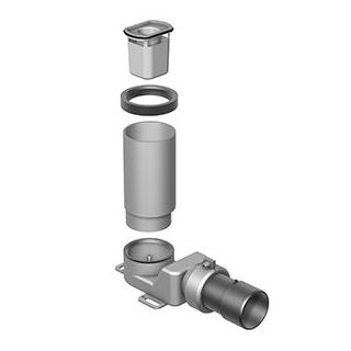 Duschenablauf Schaco Primo Plus zu Duschenrinne Aqua Abgang Ø  56/63 mm