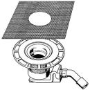 Bodenablaufgarnitur Viega ohne Aufsatz, Abgang D. 50 mm...