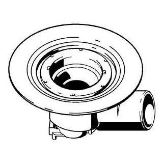 Bodenablaufgarnitur Viega ohne Aufsatz, Abgang D. 100 mm Ablaufleistung 1,7 l/s