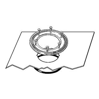 Klemmflansch Viega mit Abdichtungsmanschette Dichtungsfolie 50 x 50 cm