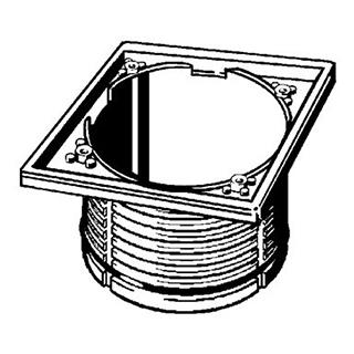 Aufsatzrahmen Viega mit Rückstaudichtung, für Roste 143 x 143 mm zu 1424 215