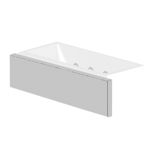 Verkleidungssystem Kaldewei MULTIVERSO, Längsteil Breite 186 cm, für Wannenbreite 170 cm