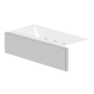 Verkleidungssystem Kaldewei MULTIVERSO, Längsteil Breite 216 cm, für Wannenbreite 200 cm