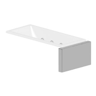 Verkleidungssystem Kaldewei MULTIVERSO, Seitenteil Breite 116 cm, für Wannenbreite 100 cm