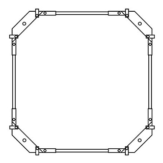 Montagerahmen Schmidlin für Duschwannen rechteckig 70 x 70 cm ohne Fussset