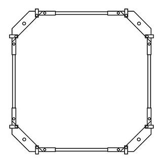 Montagerahmen Schmidlin für Duschwannen rechteckig 80 x 80 cm ohne Fussset
