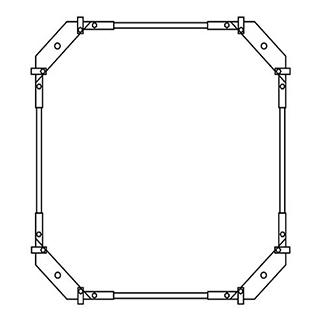 Montagerahmen Schmidlin für Duschwannen rechteckig 90 x 75 cm ohne Fussset