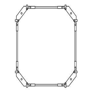 Montagerahmen Schmidlin für Duschwannen rechteckig 100 x 75 cm ohne Fussset