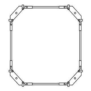 Montagerahmen Schmidlin für Duschwannen rechteckig 100 x 90 cm ohne Fussset