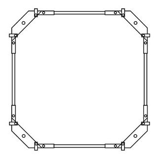 Montagerahmen Schmidlin für Duschwannen rechteckig 100 x 100 cm ohne Fussset