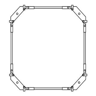 Montagerahmen Schmidlin für Duschwannen rechteckig 110 x 80 cm ohne Fussset