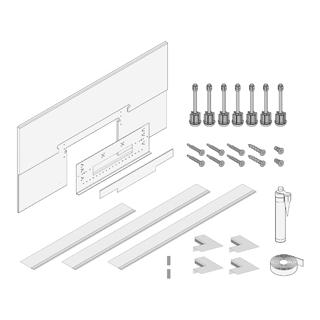 Montageset Schmidlin Wall II für Beplankung 18 mm zu 1311 882