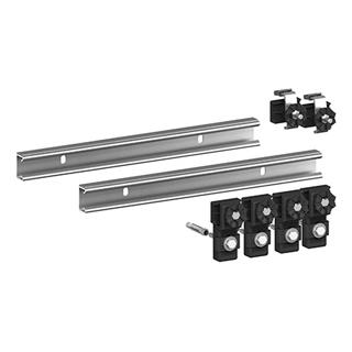 Wannenleisten-Set MEPA schallisoliert, Satz à 2 Stück zu je 70 cm 2 Klemmbügel