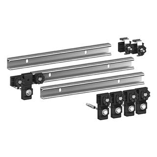 Wannenleisten-Set MEPA schallisoliert, Satz à 3 Stück zu je 70 cm, inkl. T-Verbindungsstück