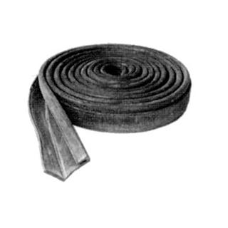 Zargengummiprofil Schmidlin schwarz, per Meter