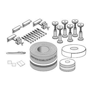 Schall- und Feuchtigkeitsschutz ISO-SET HAFNER 134 - 250 mm