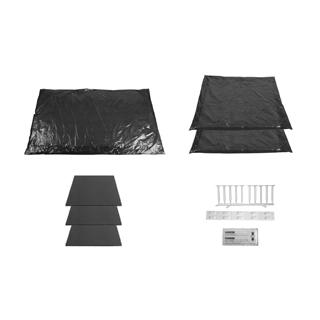 Schallschutz-Set Alterna zu Badewannenträger bis 200 x 100 cm für Stahlwannen