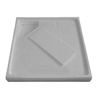 Duschenwannenträger Poresta Höhe 13,0 cm, zu Schmidlin 90 x 70 x 2,5 cm