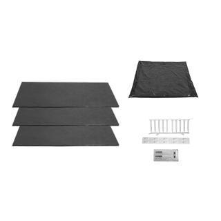 Schallschutz-Set Alterna zu Duschenwannenträger bis 100 x 100 cm für Stahlwannen