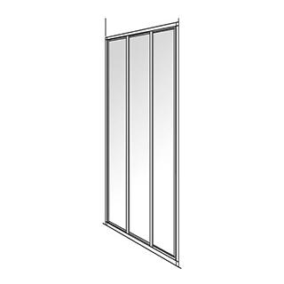 Gleittüre Duscholux Optima 300, 3-teilig Höhe 190 cm Breite 88 - 90 cm