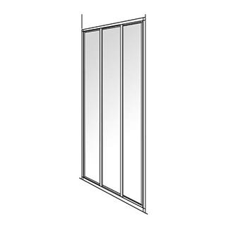 Gleittüre Duscholux Optima 300, 3-teilig Höhe 190 cm Breite 98 - 100 cm