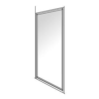 Drehtüre Duscholux Optima 300 Höhe 190 cm, Breite 88 - 90 cm Nische 86,8 - 90,8 cm