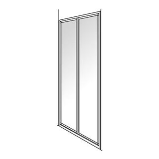 Pendeltüre Duscholux Optima 300, 2-teilig Höhe 190 cm Breite 88 - 90 cm