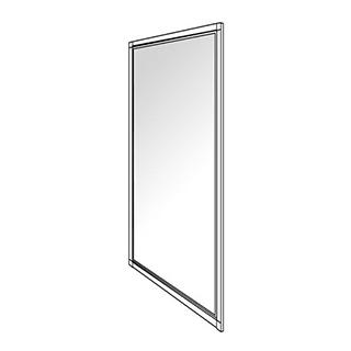 Seitenwand Duscholux Optima 300, Höhe 190 cm Breite 78 - 80 cm